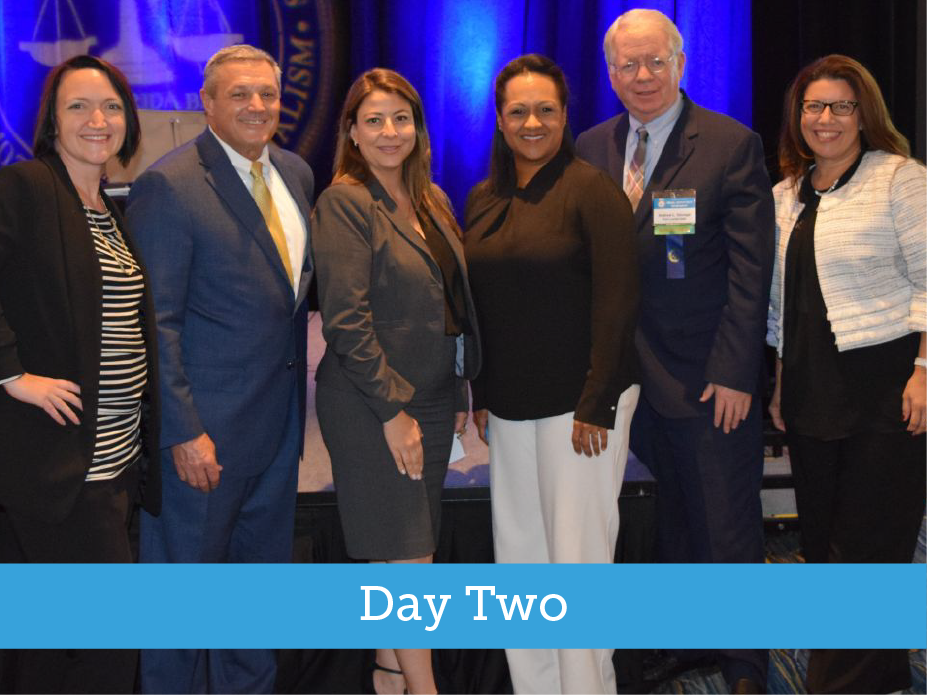2019 TRIAL ADVOCACY WORKSHOP – DAY TWO – six members posing for photo